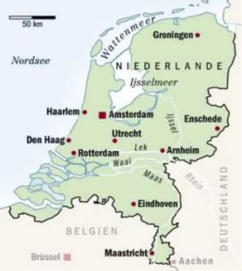 karte holland